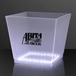 White LED Bottle Service Ice Bucket
