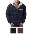 Independent Trading Company Men's Sherpa Lined Zip Hooded... - Men's Sherpa-lined hoodie made of cotton/polyester fleece with a generous fit and antique-nickel exposed zipper.