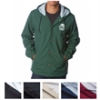 Independent Trading Company Water Resistant Hooded Windbr... - Hooded windbreaker made with a nylon waterproof shell and antique brass or matte black eyelets and snap-front closure.
