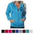 Independent Trading Company Juniors' Lightweight Zip Hood... - Slim fit juniors' lightweight zip hooded sweatshirt made of cotton/polyester blend fleece.