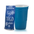 12 oz Let's Party Ceramic Cup Gift w/Hot chocolate mix. - 12 oz double wall ceramic beverage holder with Hot cocoa mix.