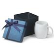 14 oz. Rotunda Ceramic Mug Small Box Gift Set - 14 oz. white ceramic mug in a gift box