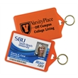 ID Holder/Key Ring - ID holder/key ring made of vinyl with a clear view of various licenses and badges.