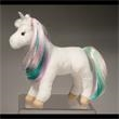 "Jules Princess Unicorn - 10"" ultra-soft plush unicorn with white body, shimmering rainbow brushable mane and tail and a silver metallic horn"