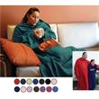 Hugme Blanket - Super soft fleece blanket. Large sleeve. Stay warm & relax. Blank.
