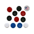 Checkers (Crown / Star Design) - Checkers available in 4 colors: Black, Red, Blue, & White.