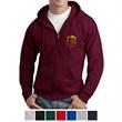 Hanes® EcoSmart Full-Zip Hooded Sweatshirt - 50/50 cotton/polyester full-zip hooded sweatshirt with PrintPro XP fleece.