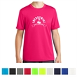 Sport-Tek Youth PosiCharge Tough Tee - Youth T-shirt made of 100% polyester with PosiCharge technology, moisture-wicking ability, and snag resistance.