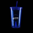 Blue Light Up Travel Cup with Round Insert