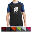 Sport-Tek Youth CamoHex Colorblock Tee - Put your stamp on the next tradeshow event when you offer this Sport-Tek youth CamoHex colorblock tee! It's a CPSIA tracking label