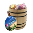 Wooden Barrel filled with Salt Water Taffy - Wooden barrel filled with 8 oz. of salt water taffy