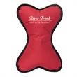 Dog Bone Squeak Toy - 1-Color Imprint - 600 denier nylon dog fetch chew toy with a squeaker embedded at the center.