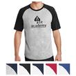 Sport-Tek Short Sleeve Colorblock Raglan Jersey - Colorblock jersey T-shirt made of 100% combed ringspun cotton with raglan sleeves.