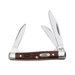 Brown Synthetic SS Small Stockman - Small stockman knife, clip, sheepfoot and pen blades.