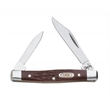 Brown SS Synthetic Pen - Small pen knife, clip and pen blades.