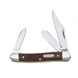 Brown Synthetic SS Medium Stockman - Medium stockman knife, clip, spey and pen blades.