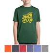 Sport-Tek  Youth Heather Contender Tee - Moisture-wicking, breathable, snag-resistant youth tee made of 100% polyester jersey.