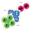 """Twin-Dots™ Reflective Sticker Set - Set of two 3/4"""" reflective stickers for peeling off and applying to clothing or other items for greater visibility in the dark."""