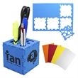 Puzzle Cube and Pen Holder - High density foam parts create a useful desk stand when assembled.