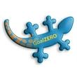 "Salamander Sticker - Salamander shaped reflective sticker measuring 1 7/8"" x 2 5/8""."