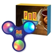 Light-Up LED Fun Spinner With Custom Box - Light-up LED spinner with custom gift box featuring four color process imprint.