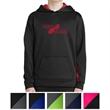 Sport-Tek Youth Sport-Wick Fleece Colorblock Hooded Pullover - Anti-static, moisture-wicking fleece hooded pullover youth sweatshirt.