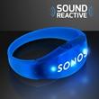 Sound Activated Light Up Blue LED Flashing Bracelets