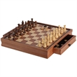 "19"" Camphor Chess & Checker Set - 19"" Camphor Chess & Checker Set."