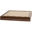 Deluxe Walnut Chess Board - Brown and White Chess Board.