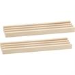 2 Pie Wooden Domino Tile Holders - 2 Pie Wooden Domino Tile Holders.
