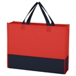 "Non-Woven Raven Prism Tote Bag - Tote bag made from 80-gram non-woven, water-resistant polypropylene with 13"" handles."