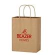 "Kraft Paper Brown Shopping Bag - 8"" x 10-1/4"" - 8"" x 10 1/4"" shopping bag made from Kraft paper."