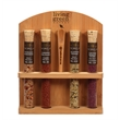 4 Tube Gourmet Salt Collection  - Made in USA - 4 Exotic Gourmet Sea Salts in Bamboo Base