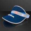 Blue Visor Hat with Red White & Blue LEDs - Go Retro with Blue Visor Hat with Red White & Blue LEDs!