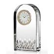 Waterford® Lismore Essence crystal clock - Streamlined crystal desk clock.