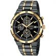 Seiko Men's Alarm Chronograph Black Ion Watch