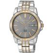 Seiko Men's Solar Watch w/Charcoal Round Dial - Men's watch.