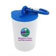 Trash Can Pet Bag Dispenser - Full Color Sticker - Pet waste bag dispenser with a carabiner attachment, 20 poly bags included, and full color sticker imprint.