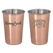McGuire's Copper Plated Pint Glass Cup - 16 oz. copper plated stainless steel pint cup glass tumbler.