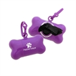 Bling Pet Bone Bag Dispenser - 1-Color Imprint - Bone shaped pet trash bag dispenser with bling design and a one-color/one-location pad printed imprint.