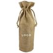 Wine Burlap Tote Bag