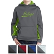 Sport-Tek Youth Sport-Wick CamoHex Fleece Colorblock Hood... - Moisture-wicking youth hooded sweatshirt made from 100% polyester.
