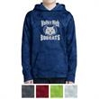 Sport-Tek Youth Sport-Wick CamoHex Fleece Hooded Pullover - Moisture-wicking youth hooded sweatshirt made from 100% polyester.