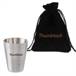 4 pack 1 oz. Stainless Steel Shot Glass Cups