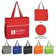 Non-Woven Wave Design Tote Bag - Tote bag made from 80-gram non-woven polypropylene.