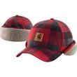 Timberville Plaid Cap - Plaid flannel cap.