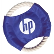 """Pet Rope Disc Toy - 1-Color Imprint - Durable pet rope disc toy measuring 7"""" diameter with one-color/one-location screen imprint."""