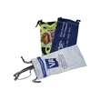 Microfiber Glasses Pouch - 170 gsm microfiber cloth glasses pouch.