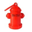 Fire Hydrant Dispenser - 1-Color Imprint - Fire hydrant shaped pet trash bag dispenser with 20 poly bags included and one-color/one-location pad printed imprint.