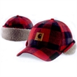 Timberville Plaid Cap - Timberville Plaid Cap. 80% polyester/20% wool blend flannel. 92% polyester/8% spandex fleece lining. 100% polyester insulation.